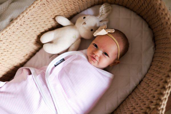 Couverture d'emmaillotage pour nouveau-né MiMi pink