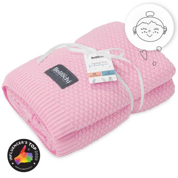 La grande couverture en bambou rosa