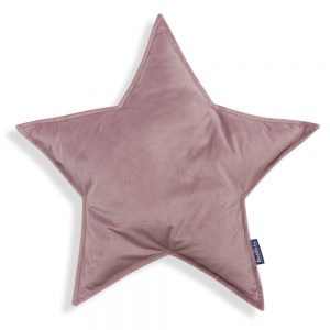 Oreiller décoratif en forme de d'étoile rose poudré
